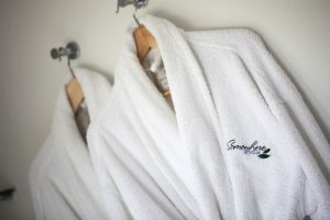 Enjoy the cosy bathrobes