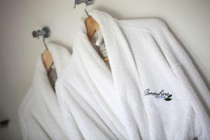 Enjoy the cosy bathrobes