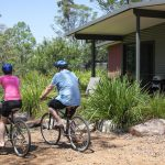 Ride the bikes into the Wollombi village