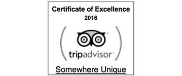 Somewhere Unique, TripAdvisor Certificate of Excellence 2016