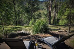 Hunter Valley Luxury Accommodation, Lowanna Retreat, Private Deck